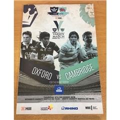 CURUFC - Varsity Match 2018 Programme