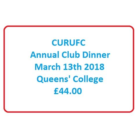 CURUFC - CURUFC Annual Club Dinner