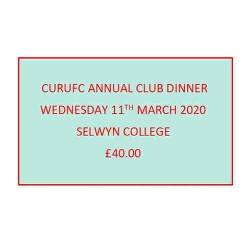 CURUFC - CURUFC Annual Club Dinner 2020