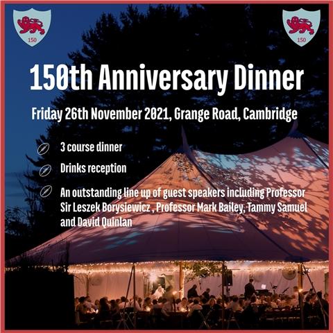 CURUFC - 150th Anniversary Celebration Dinner